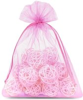 Organza Zakjes 12 x 15 cm   50 stuk   Roze   Cadeauzakjes Geschenkzakjes Cadeau Verpakking Geurzakjes Snoepzakjes Bruiloft decoratie