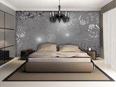 Silver   Gray Photomural, wallcovering