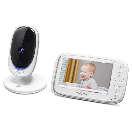 """Motorola Comfort50 babyfoon - 5"""" kleurenscherm - infrarood nachtzicht - Gespreksfunctie microfoon"""