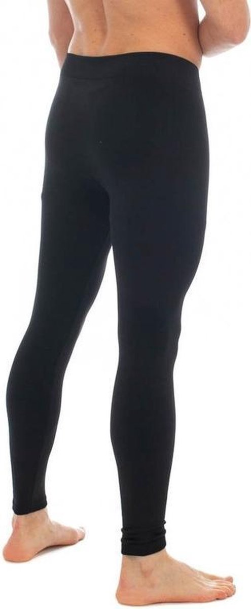 Thermo broek lang voor heren zwart - Wintersport kleding - Thermokleding - Lange thermo broek/legging - Herenlegging M/L