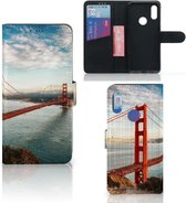Xiaomi Redmi 7 Flip Cover Golden Gate Bridge