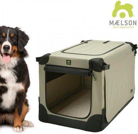 Maelson Opvouwbare Hondenbench - 2 Deurs - 82 x 59 x 59 cm - Beige