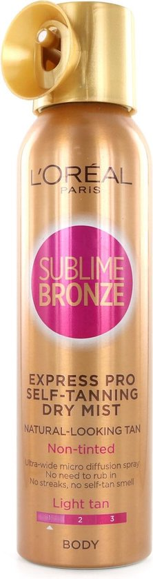 L'Oréal Sublime Bronze Express Pro Self-Tanning Dry Mist - Light Tan