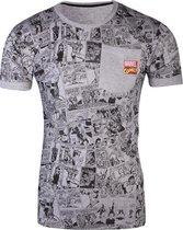 Marvel Comics - Comic AOP Pocket Men s T-shirt - S