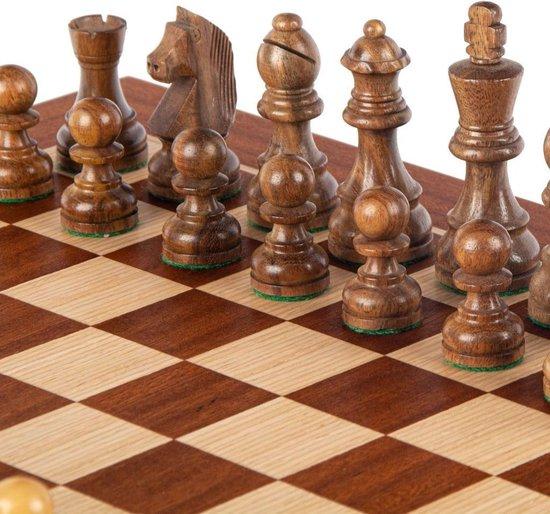 Walnoot combo Schaken - Dammen - Backgammon set - 38x20 cm - Luxe