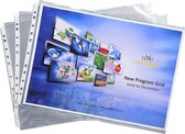 5x Exactive® Pak van 10 eperforeerde tassen - gladde PP 5,5/100ste - A3, Transparant