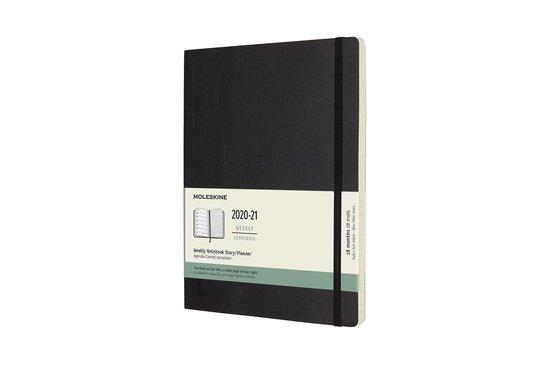 Moleskine 18 Maanden Agenda - 2020/21 - Wekelijks - XL (19X25 cm) - Zwart - Zachte Kaft