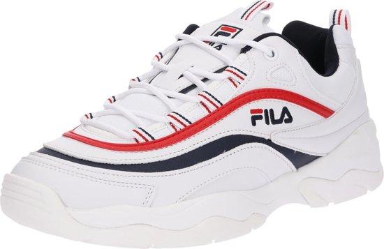 Fila Ray Low Sneakers Heren - White/Fila Navy/Fila Red  - Maat 41
