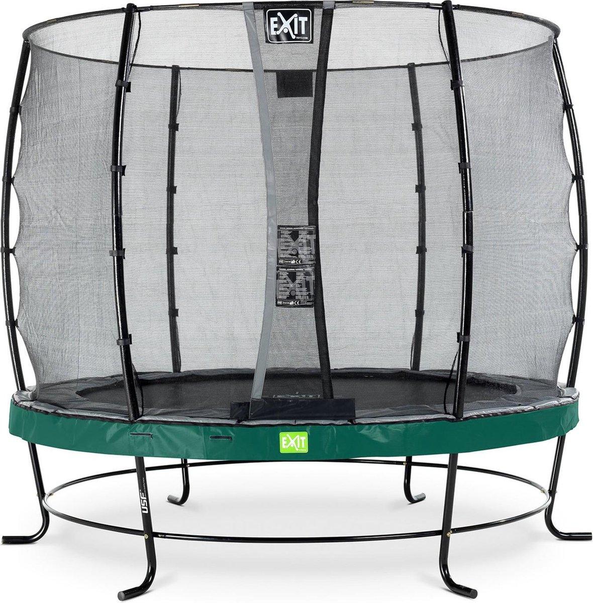Trampoline EXIT Elegant - ø253cm met net Economy - groen