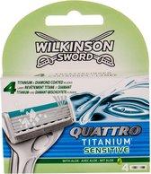 Wilkinson Sword - Quattro Titanium Sensitive (4 pcs) - Spare heads (M)
