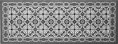 Keukenmat grijs tegellook - 45 x 120 cm