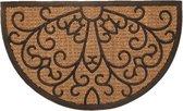 Rubberen deurmat met kokos halfrond - 45 x 75 cm