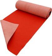 Loper rood op maat, 100 cm breed - 100 x 400 cm