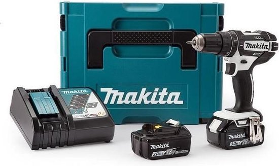 Makita Boormachine DHP482RFJ 18v inclusief 2x Li-on accu's