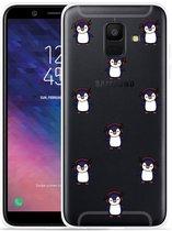 Galaxy A6 2018 hoesje Chillin like a penguin