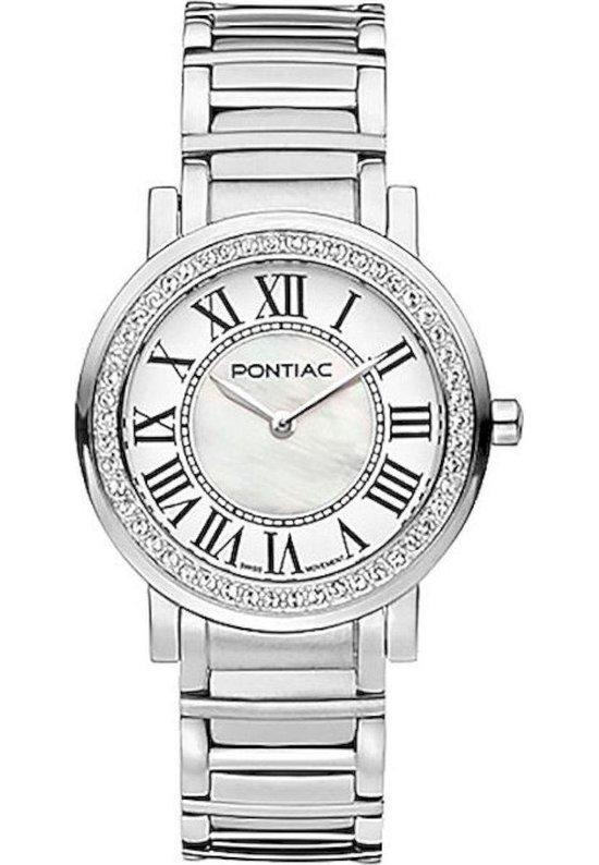 Pontiac P10024 Horloge Roman Edelstaal dames