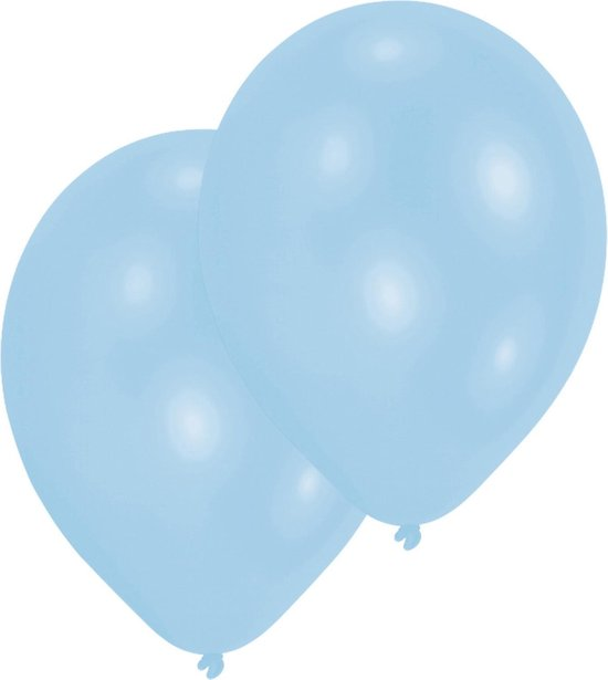 Amscan Ballonnen Pearl Lichtblauw 27,5 Cm 50 Stuks