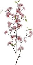 Roze Sakura/kersenbloesem kunsttak kunstplant 112 cm - Kunstplanten/kunsttakken - Kunstbloemen boeketten