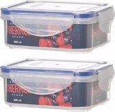 2x Thermos airtight vershoud dozen 300 ml - Voedsel bewaren - Voedselbewaarbakjes/voedsel opbergen doosjes