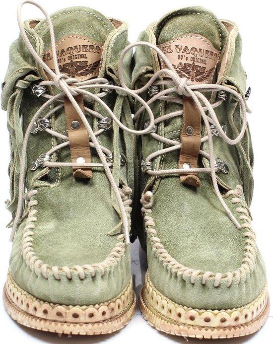 El Vaquero Grace Dames Veter Boots - Groen, ,36 / 3 Rjh8fr