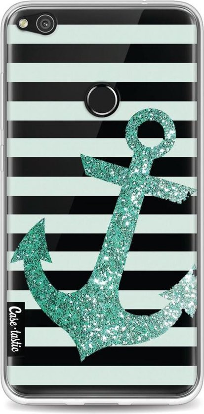 Casetastic Softcover Huawei P8 Lite (2017) - Glitter Anchor Mint
