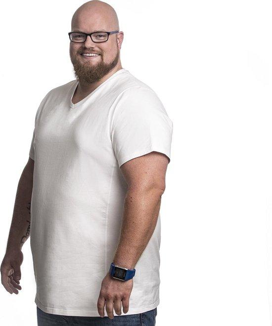 5xl 2pack T-shirt Heren V-hals Wit | Grote Maten Buikmaat 146 - 153...
