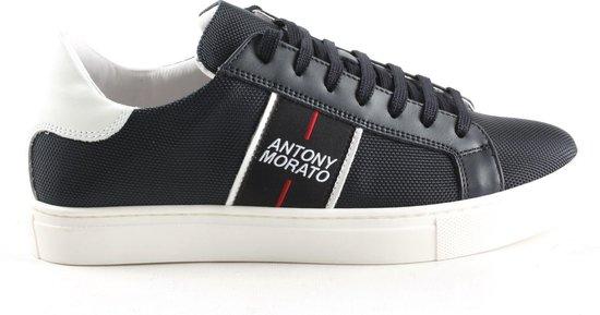 Heren Veterschoenen Antony Morato Mmfw01277 Sneaker Low Blue Ink Donkerblauw Maat 42