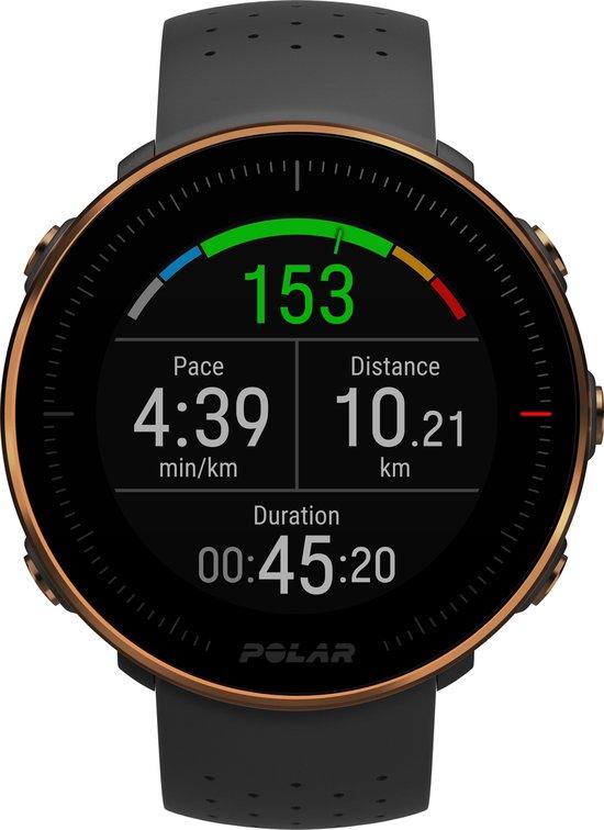 Polar Vantage M - Multisport horloge - Zwart/koper - 46 mm - M/L bandje
