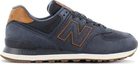 New Balance Classics 574 - Heren Sneakers Sportschoenen Schoenen Navy-Blauw  ML574NBD - Maat EU 45 US 11