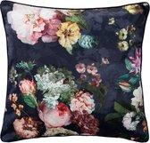 ESSENZA Fleur Sierkussen Nachtblauw - 50x50 cm