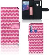 Huawei P Smart Plus (2019) Telefoon Hoesje Waves Pink