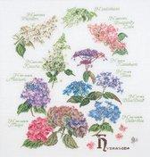 Borduurpakket Hydrangea - Hortansia Thea Gouverneur 3067