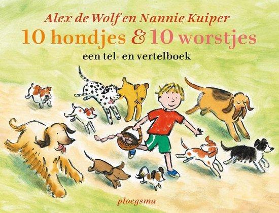 Cover van het boek '10 hondjes & 10 worstjes' van André Wolf en Nannie Kuiper