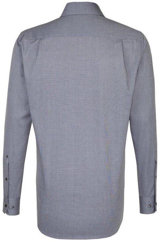 Seidensticker Overhemd Modern Fit Grijs, Maat 48