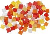 Creotime Kunststof Mini Mozaiek Vierkant Rood 5x5mm