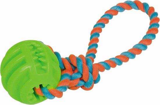 Nobby TPR Bal Met Katoenen Touw - Groen - 28 cm