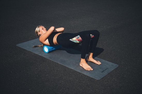 Tunturi Yoga Grid Foam Roller - Foam roller the grid - Foamroller - Fitness Roller - 33cm - Blauw
