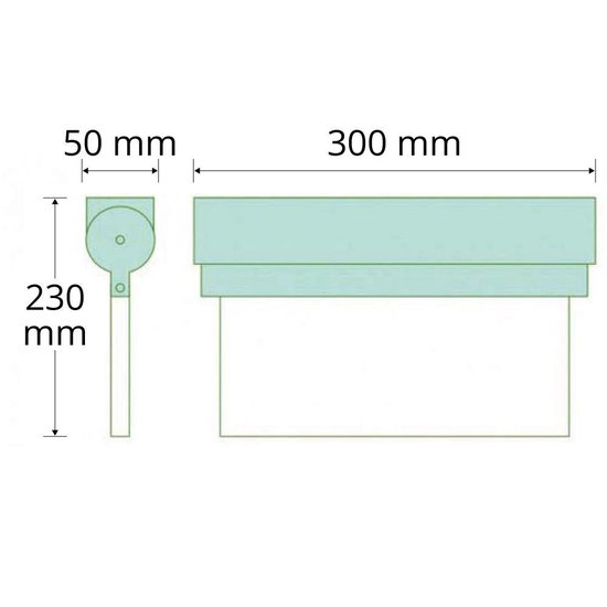 Noodverlichting Kantelbaar - 2,5 watt - opbouw