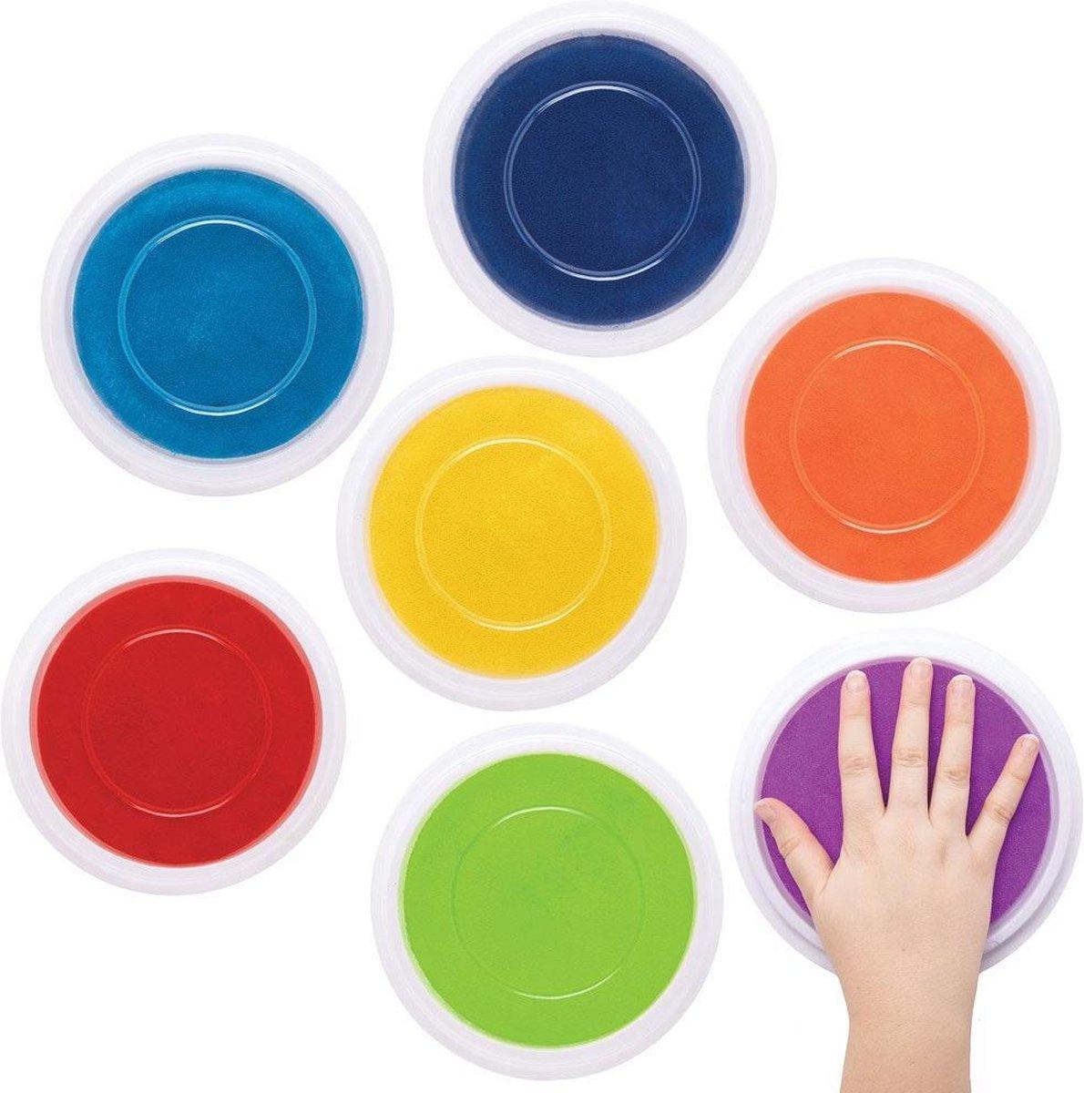Baker Ross Jumbo Verfkussens in Regenboogkleuren (7 stuks) Knutselspullen en Verf voor Kinderen