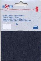 pronty opstrijkbaar reparatiedoek - blauw jeans navy - voor reparatie broeken, jassen en andere kleding - 10x40 cm