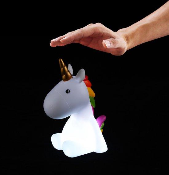 Eenhoorn Touch Nachtlamp Oplaadbaar met Timer en Dimmer– Multi kleur en Wit licht Regenboog