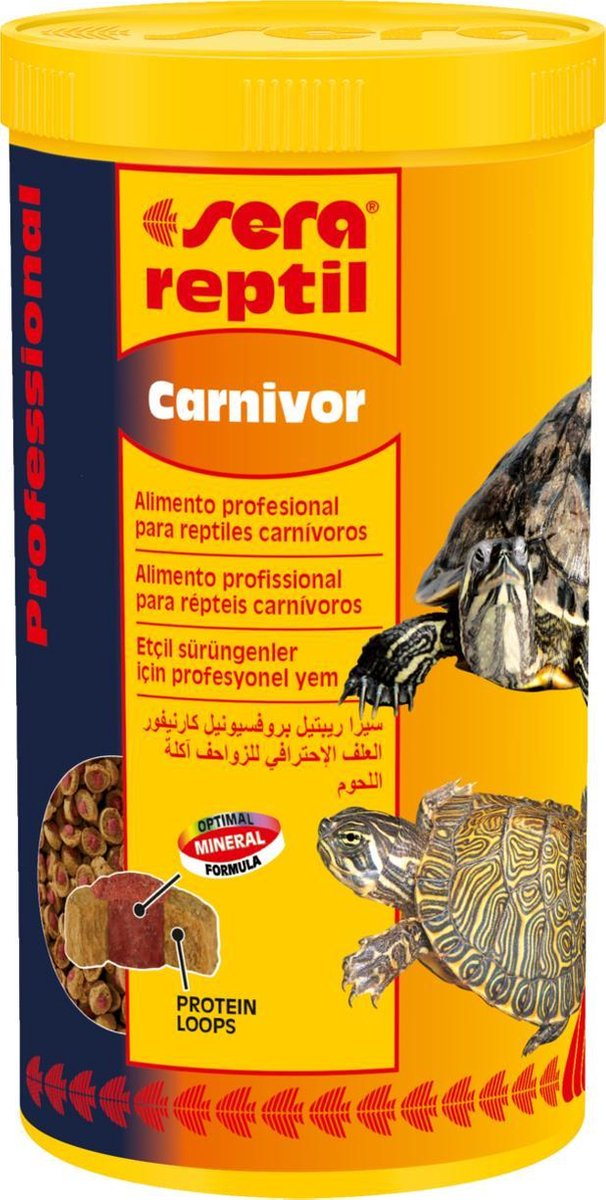 Sera reptil Carnivor - 330gr - Schildpaddenvoer Carnivoor