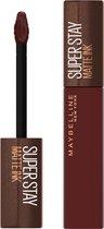 Maybelline SuperStay Matte Ink Lipstick Coffee Collection Limited Edition - 275 Mocha Inventor - Bruine Lippenstift - 5 ml