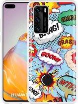 Huawei P40 Hoesje Comic