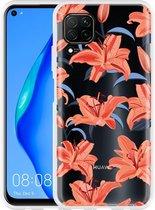 Huawei P40 Lite Hoesje Flowers