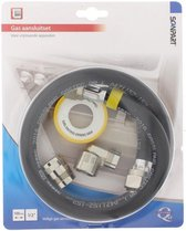 "Scanpart gasslang aansluitset - 1/2"" - 100 cm - Aluminium"