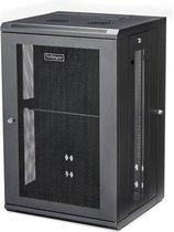 StarTech.com 18U Serverkast rack wand monteerbaar diepte tot 20'' / 50 cm scharnierende behuizing