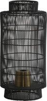 Light & Living Gruaro - Tafellamp Lantaarn - Ø24 x 52 cm - Zwart / Antiek Brons