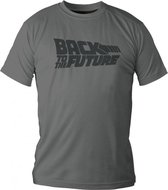 BACK TO THE FUTURE - T-Shirt - Logo - Grey (XXL)