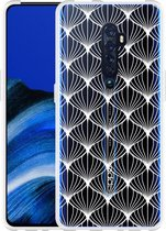 Oppo Reno 2 Hoesje White Abstract Pattern